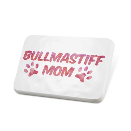 Porcelein Pin Dog & Cat Mom Bullmastiff Lapel Badge – - Bullmastiff Jewelry