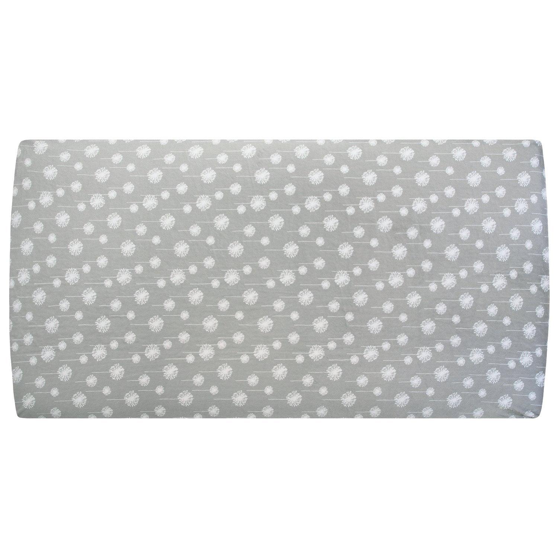 My Blankee Dandelion Minky Crib Sheet, Silver, 28' x 52' ...
