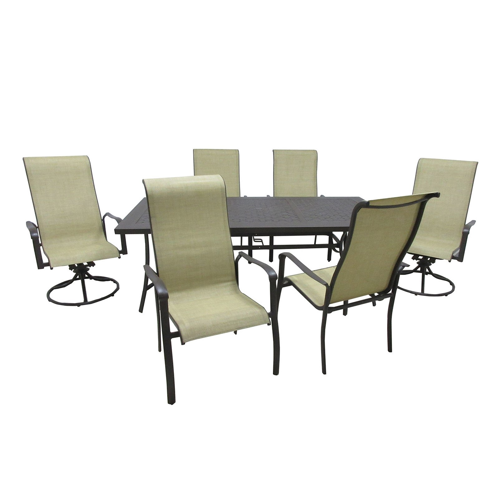 Outdoor Innovation Pacifica Aluminum 7 Piece Patio Dining Room Set by Overstock