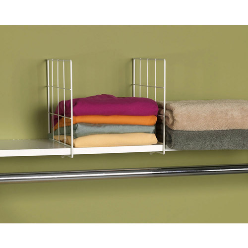 Household Essentials Wire Shelf Divider, White