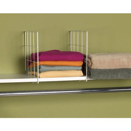 Household Essentials Wire Shelf Divider, White