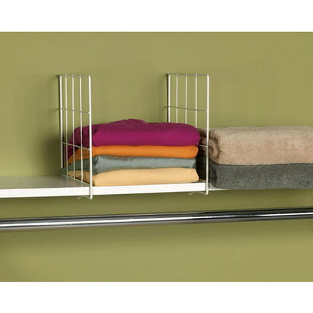 Household Essentials Wire Shelf Divider, White - Walmart.com