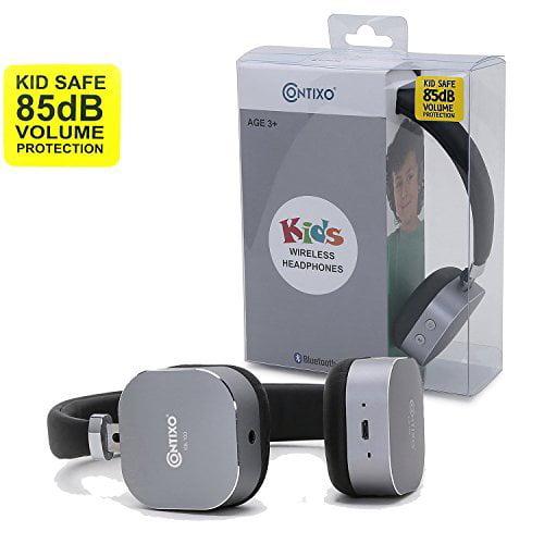 Wireless Bluetooth Headphones, Contixo Kb-100 Black Headphones Wireless Bluetooth