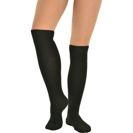 Womens Slouch Rib Knee Socks Cashmere Virgin Wool Blend Sock 7 Color - 80s Slouch Socks