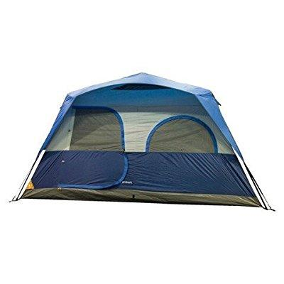 embark insta-up instant 8 person camping cabin tent, blue