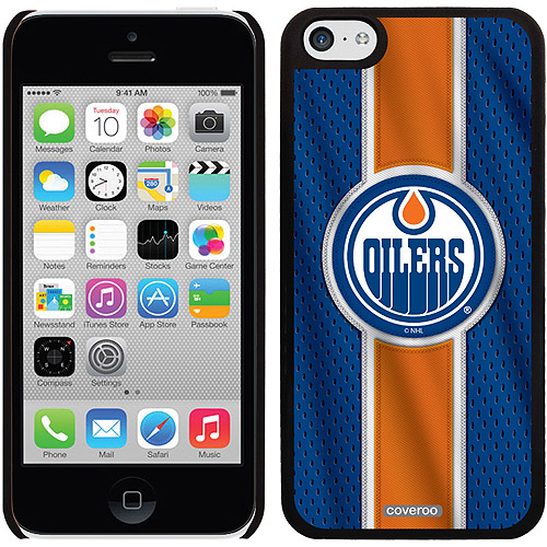 Edmonton Oilers Jersey Stripe Design on iPhone 5c Thinshield Snap-On Case by Coveroo