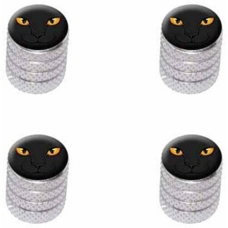 Black Cat Face Pet Kitty Halloween Tire Rim Wheel Aluminum Valve Stem Caps, Multiple Colors - Simple Halloween Cat Faces
