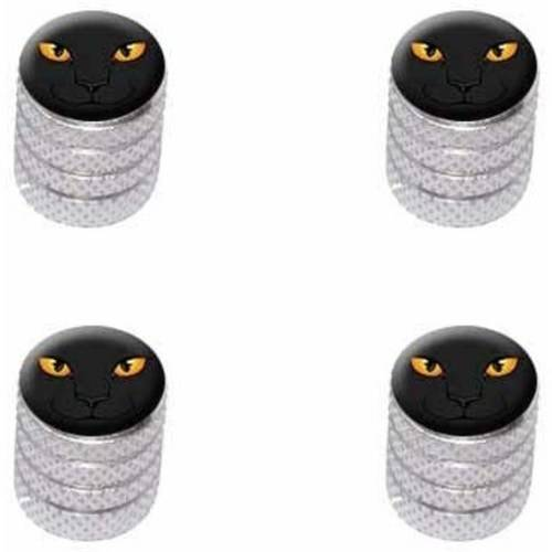 Black Cat Face Pet Kitty Halloween Tire Rim Wheel Aluminum Valve Stem Caps, Multiple Colors