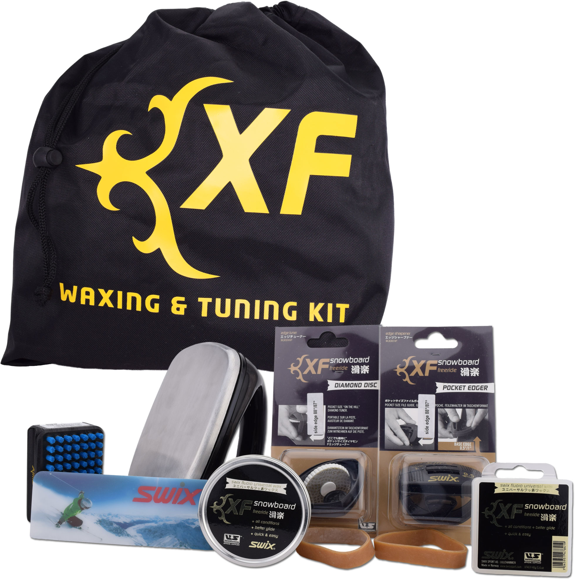 Swix XF Ski Snowboard All Mountain Wax and Edge Tuning Kit by Swix