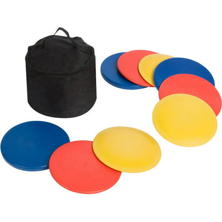 Disc Golf Set - With Disc Golf Bag - 9 Discs - By Trademark Innovations (Disc Golf Seat)