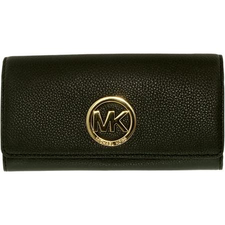 eb81d57d19e924 Michael Kors - Women's Fulton Carryall Leather Wallet Baguette - Black -  Walmart.com