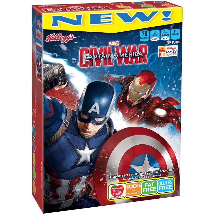 Kellogg's Marvel Avengers Assorted Fruit Flavored Snacks, 10ct