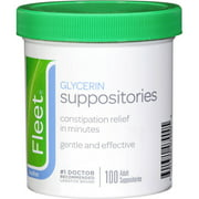 Fleet Glycerin Suppositories Laxative, 100ct