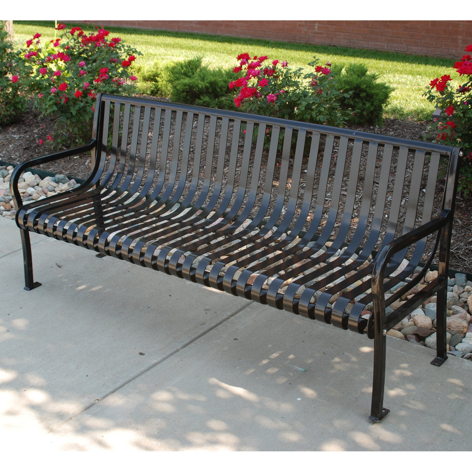 Jayhawk Plastics Aspen 6 ft. Steel Commercial Park Bench