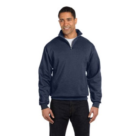 - Jerzees Adult 8 oz. NuBlend® Quarter-Zip Cadet Collar Sweatshirt