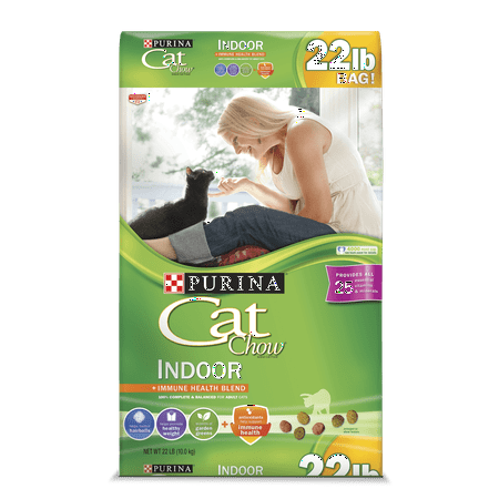 Purina Cat Chow Indoor Adult Dry Cat Food, 22 Lb