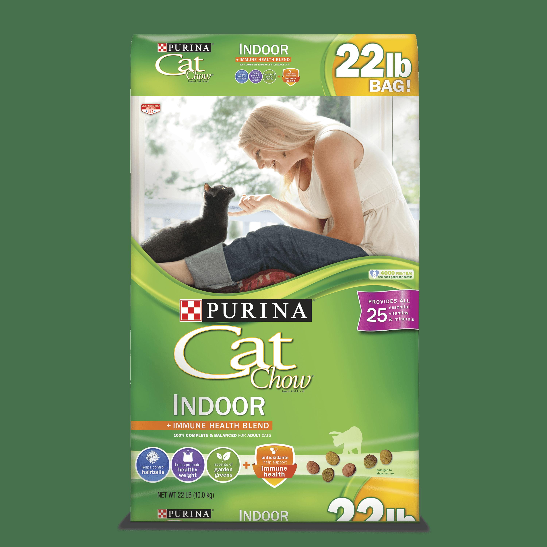 Purina Cat Chow Indoor Adult Dry Cat Food, 22 Lb