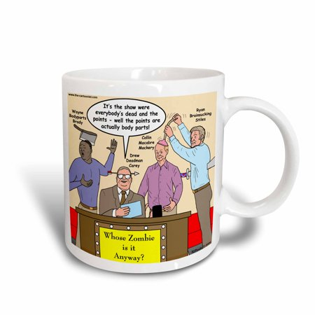 Whose Line Halloween (3dRose Halloween - Zombie Whose Line is it Anyway, Ceramic Mug,)