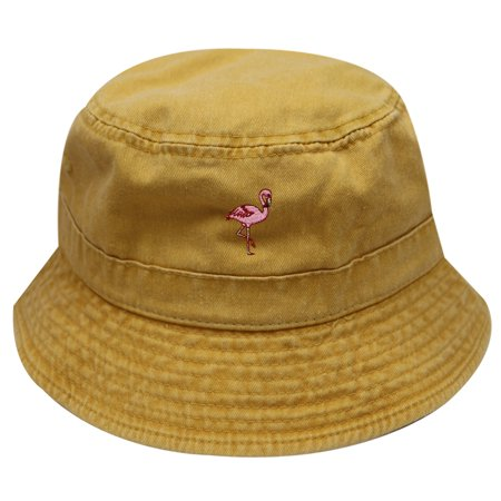 6d34270cbb7 City Hunter Bd2020 Flamingo Washed Cotton Bucket Hats - 13 Colors (Washed  Gold)
