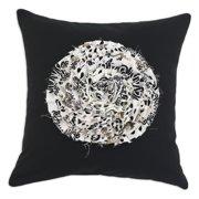 Brite Ideas Living Duck Black Pillow with Radius Black Flower