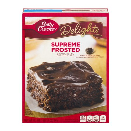 Betty Crocker  Delights Brownie Mix Supreme Frosted 19 1 Oz Box