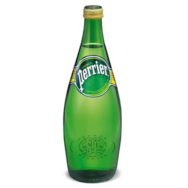 Perrier Sparkling Natural Mineral Water 25.3 oz Glass Bottles Pack of 12 by