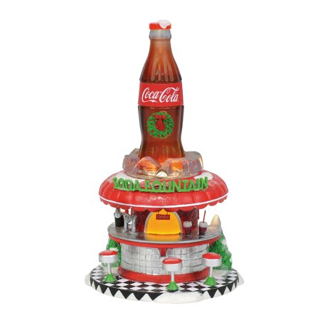 Dept 56 North Pole Series 6002293 Coca-Cola Soda Fountain 2018 (50s Soda Fountain)