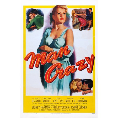 Man Crazy Us Poster Art 1953 Tm & Copyright 20Th Century Fox Film Corp All  Rights ReservedCourtesy Everett Collection Movie Poster Masterprint