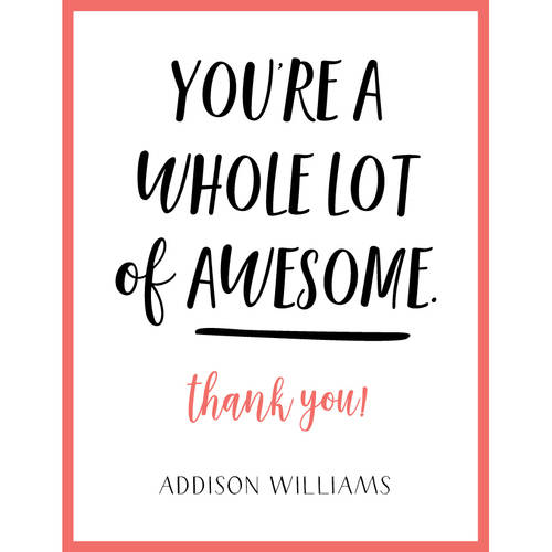 Lots Of Awesome Thank You Card Walmart Com