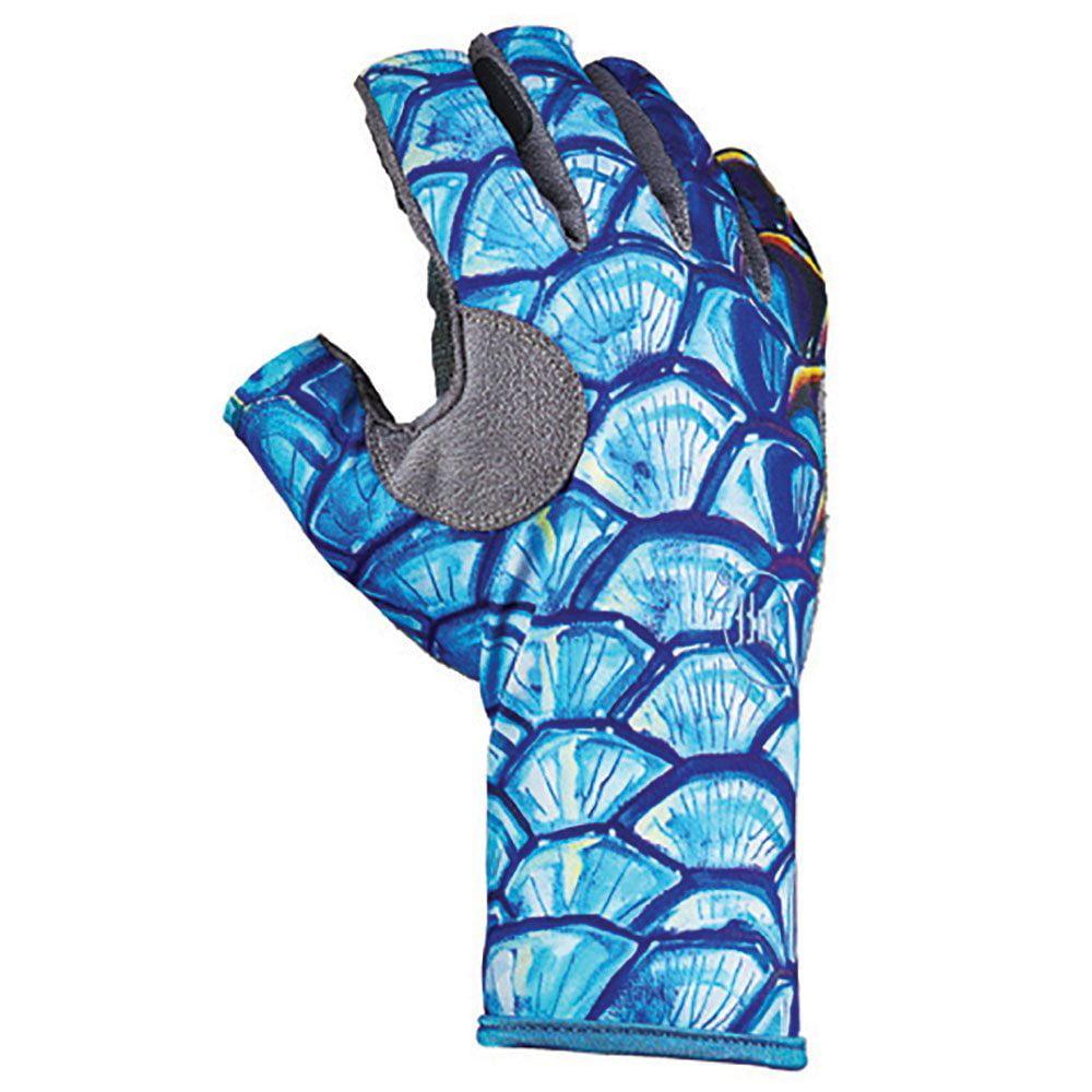 Buff Pro Series Angler 3 Gloves, Tarpon Scales, S/M (8/9)