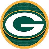 "DesignWare Bay Packers NFL Round Plates, 9"""