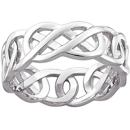 celtic knot wedding band in sterling silver - Celtic Knot Wedding Rings