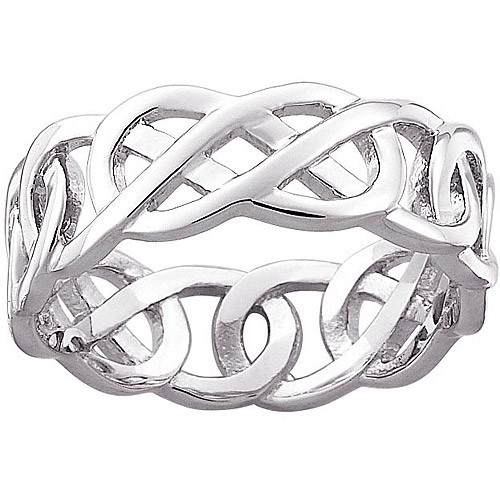 Celtic Knot Wedding Band In Sterling Silver Nice Design