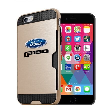 Ford F 150 2015 Up Iphone 6 6S Ultra Thin Tpu Golden Phone Case With Credit Card Slot Wallet