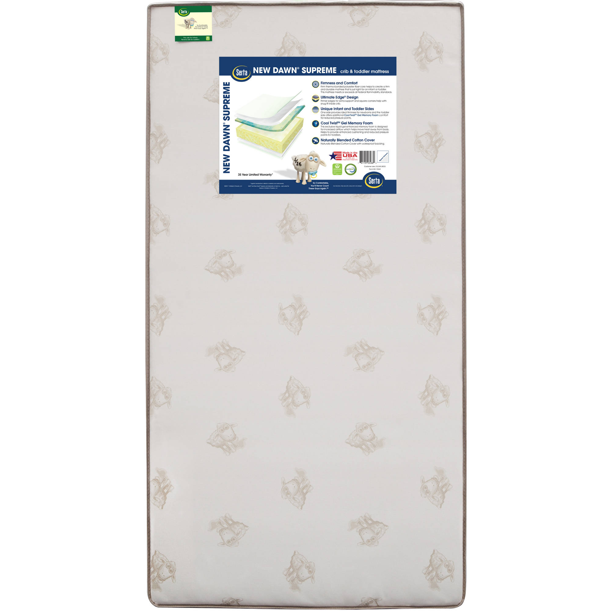 serta new dawn supreme crib and toddler mattress walmart com