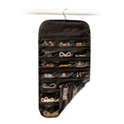 Homewares Satin Thirty Seven Pocket Jewelry Organizer-Black