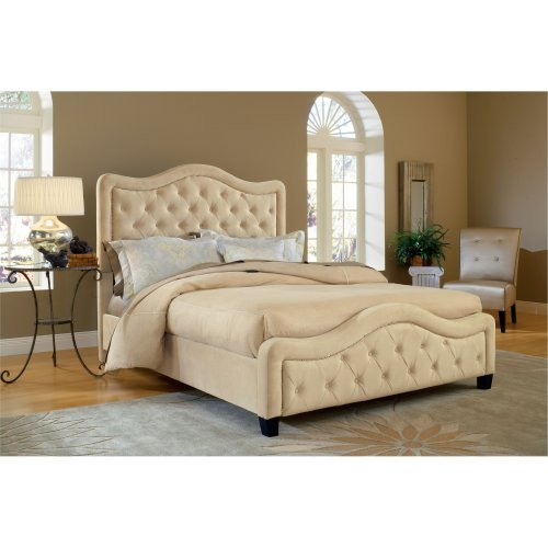 Trieste Upholstered Low Profile Bed - Buckwheat