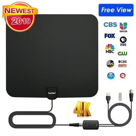 Digital TV Antenna - 110 Miles HDTV Antenna Digital Indoor Antenna with Detachable Signal Booster VHF UHF High Gain Channels Reception For 4K 1080P Free TV Channels - Auchen 2020 Newest Version! Uhf High Gain Antenna