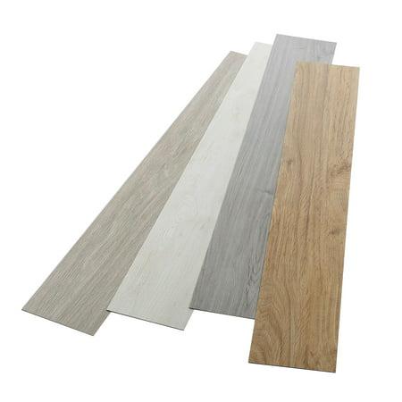 16 PCS Odorless Vinyl Floor Planks Adhesive Floor Tiles 2.0mm Thick, Environmental-Friendly