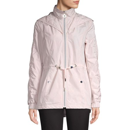 Hooded Anorak Jacket](laundry by shelli segal puffer coat with faux fur trim)