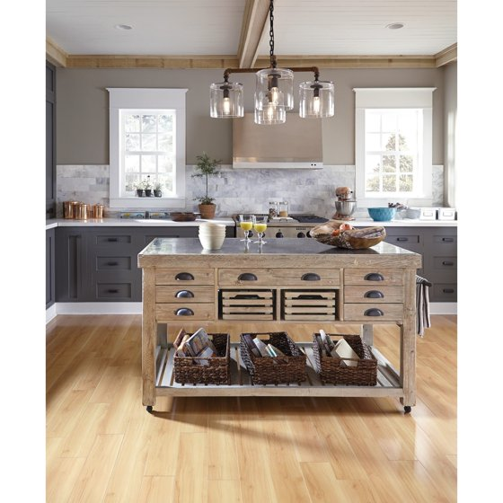 Kosas Home Avery Wood And Stone 60 Inch Kitchen Island By
