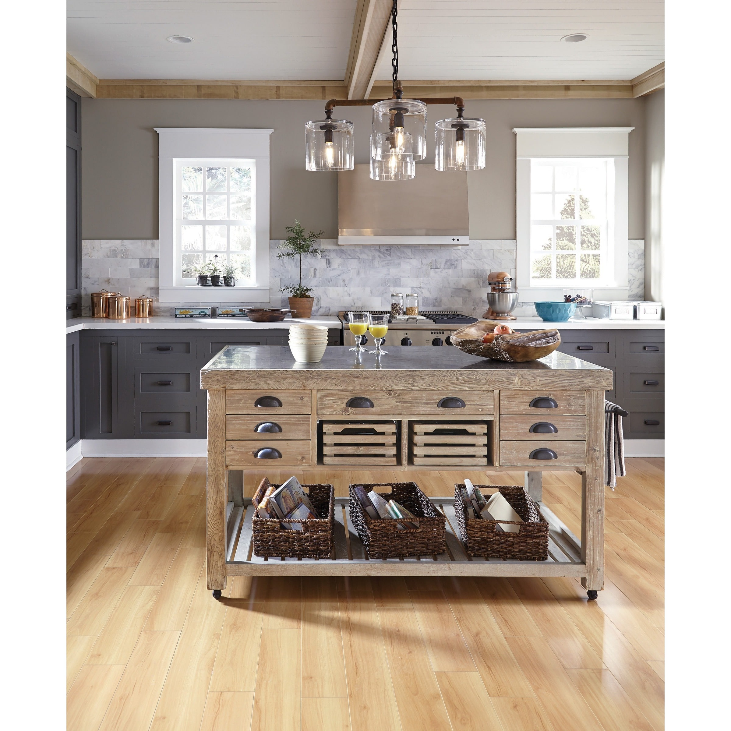 Medium image of kosas home avery wood and stone 60 inch kitchen island by