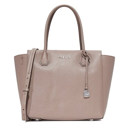 Large Leather Satchel - Pearl Grey - 30H6SM9S3L-513
