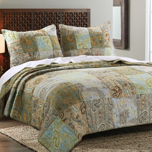 Greenland Home Fashions Paisley Dream Quilt Set