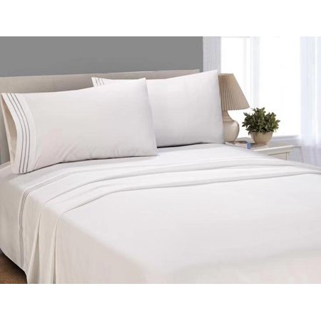 Better Homes and Gardens Luxury Microfiber Embroidered Sheet Set, King