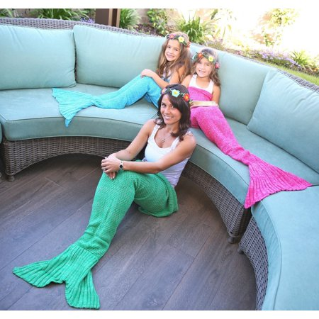 Mermaid Tail Blanket for women Teen and Kids, Made with Fine Crochet Material, Soft and Comfortable for All Season Sleeping Blanket
