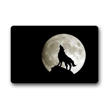 - WinHome Full Moon The Call of the Wild For Wolf Lovers Doormat Floor Mats Rugs Outdoors/Indoor Doormat Size 23.6x15.7 inches