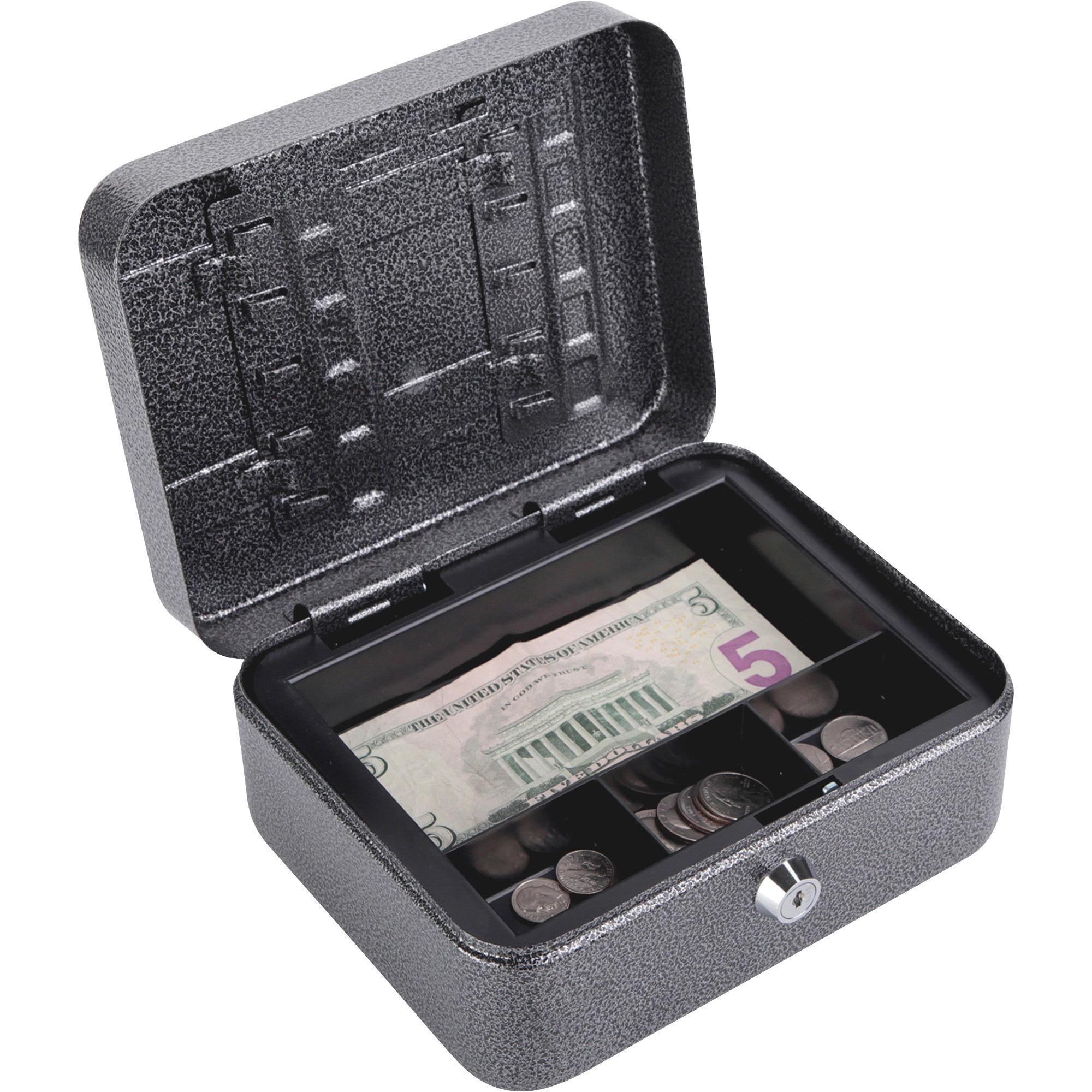 FireKing, FIRCB0806, CB0806 Locking Convertible Cash Key Box, 1 Each, Silver,Black