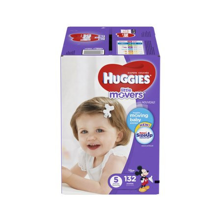 HUGGIES Little Movers Diapers (Choose Size and Count)