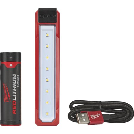 Milwaukee Electric Tools 2112-21 Usb Rechargeable Rover Pocket Flood Light W/ [1] Redlithium Battery Kit ()